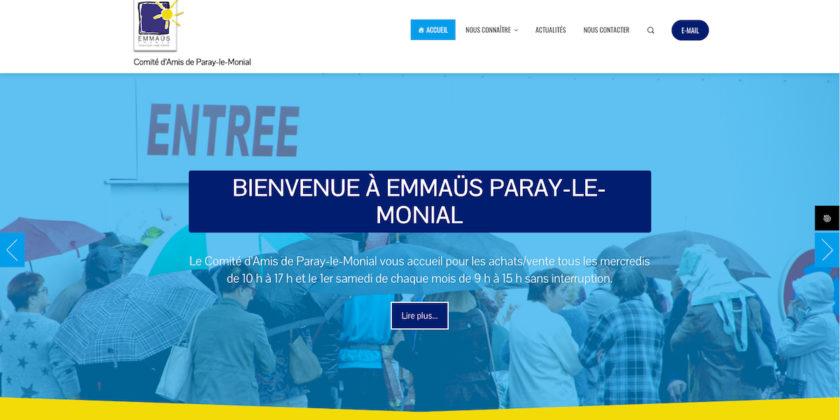 Le Comité Emmaüs de Paray est fier de vous présenter son nouveau site Internet